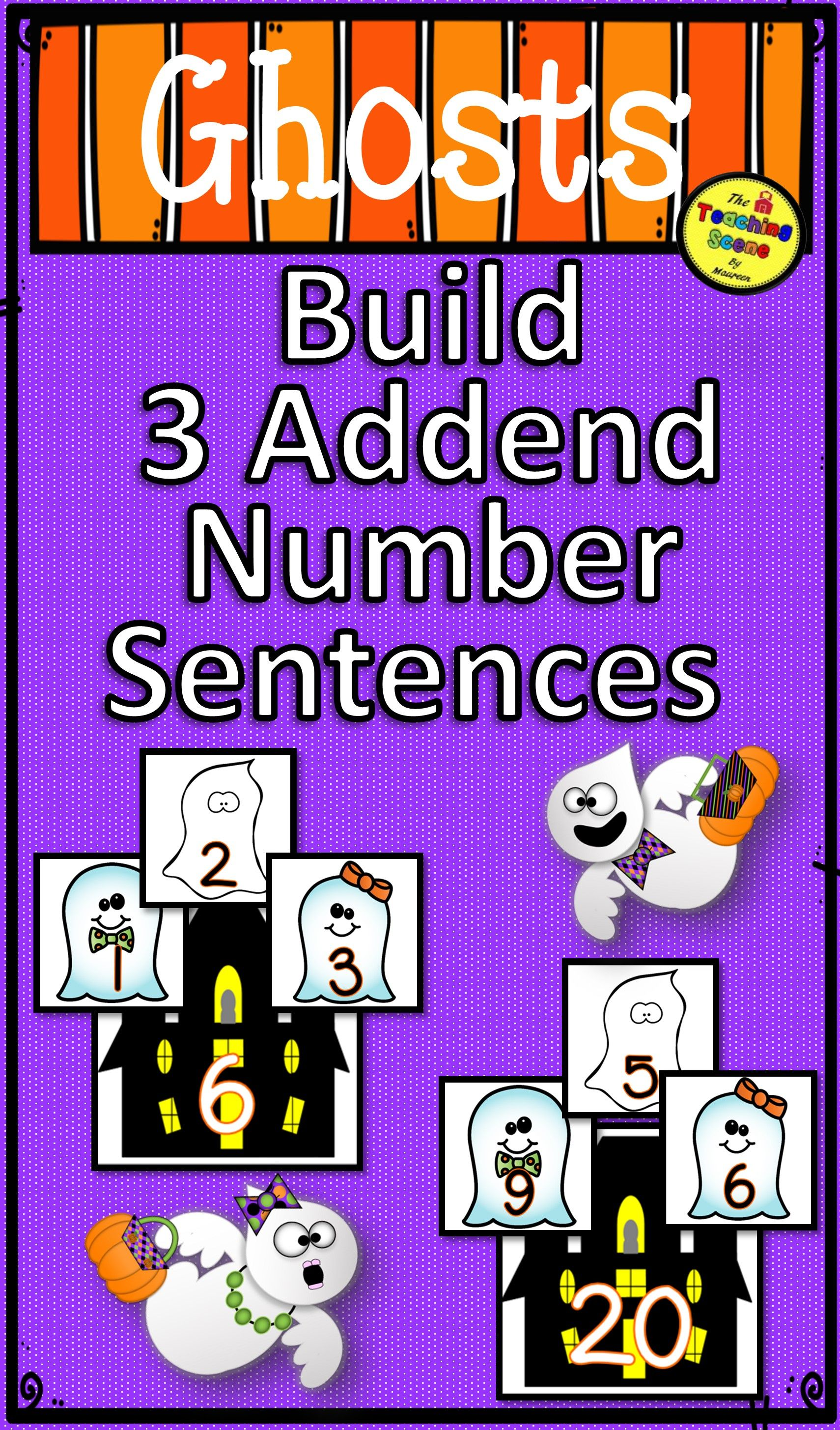 Ghosts Build 3 Addend Addition Amp Subtraction Number