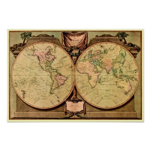 1808 captain cooks double hemisphere world map posters wall art 1808 captain cooks double hemisphere world map posters gumiabroncs Images