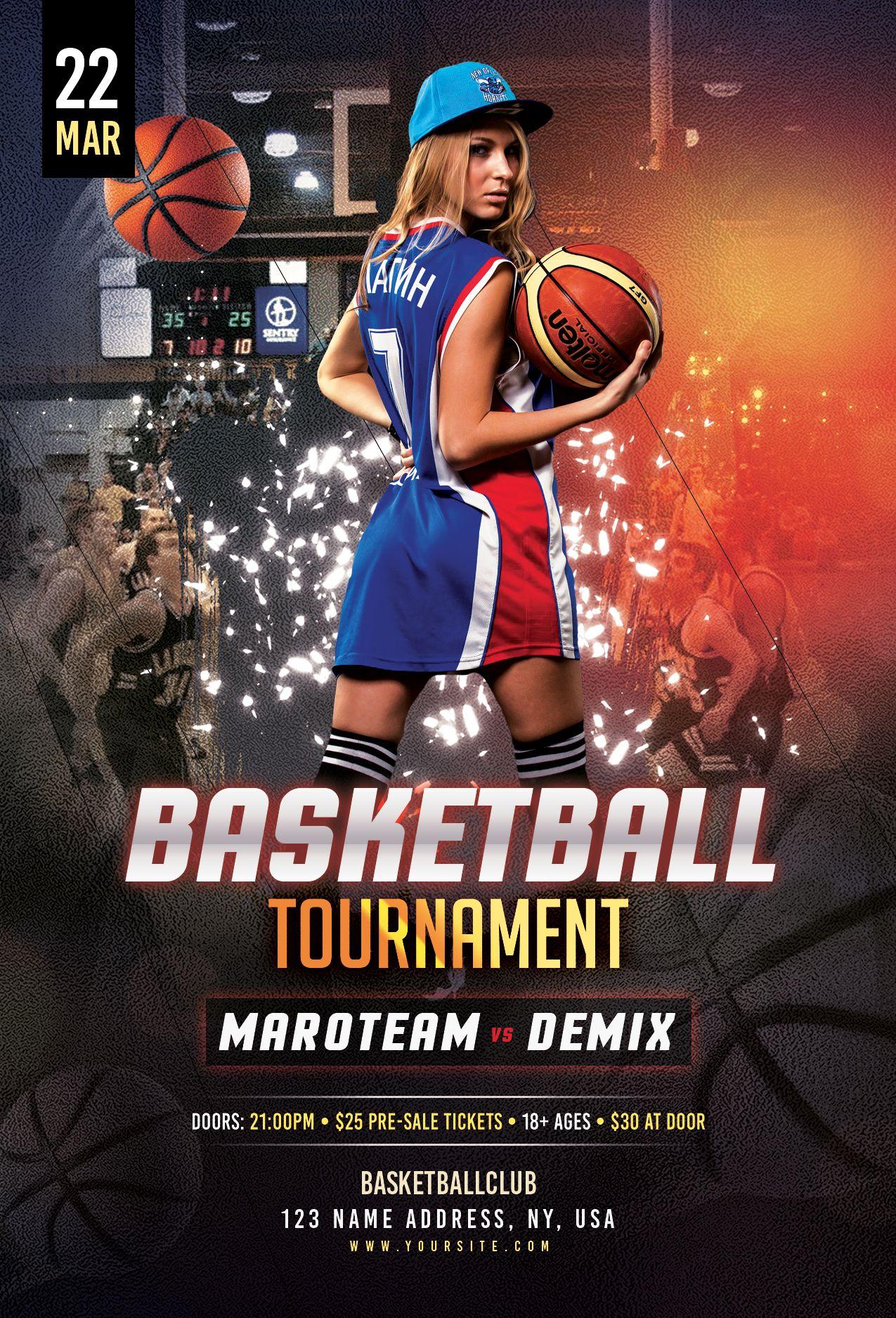 Basketball Tournament Free Psd Flyer Template Free Psd Flyer