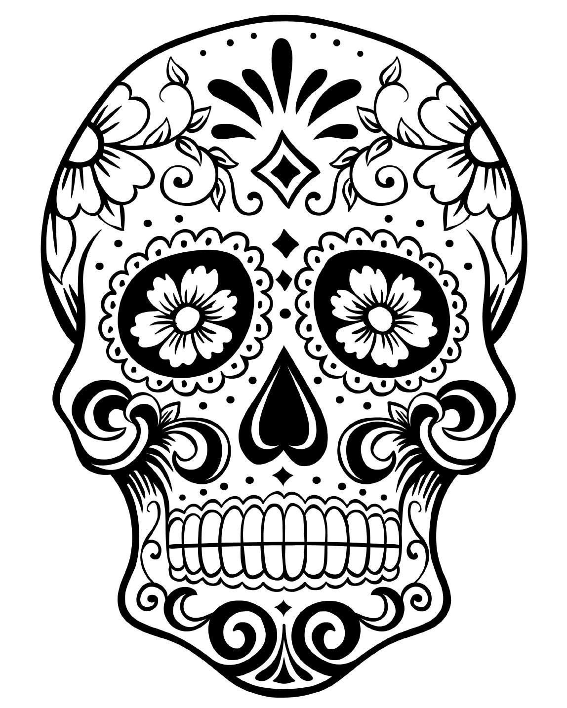 Adult Coloring Pages: Skulls 2-2 | Coloring crafts | Pinterest ...