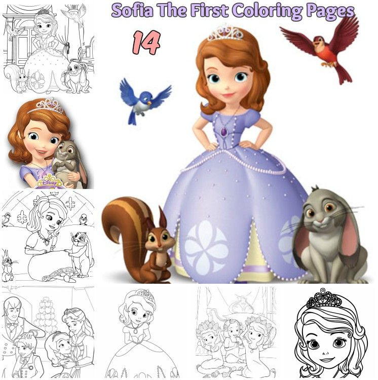 Disney Sofia the First coloring pages princess Sofia Amberprince