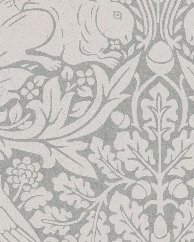 Tapet Pure Brer Rabbit Gilver från William Morris & Co