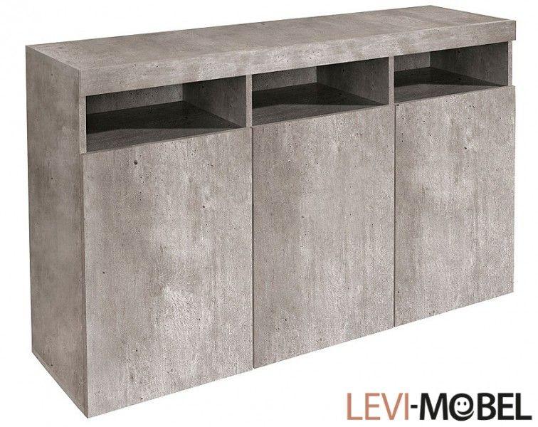 Sideboard kommode wohnzimmer schrank beton
