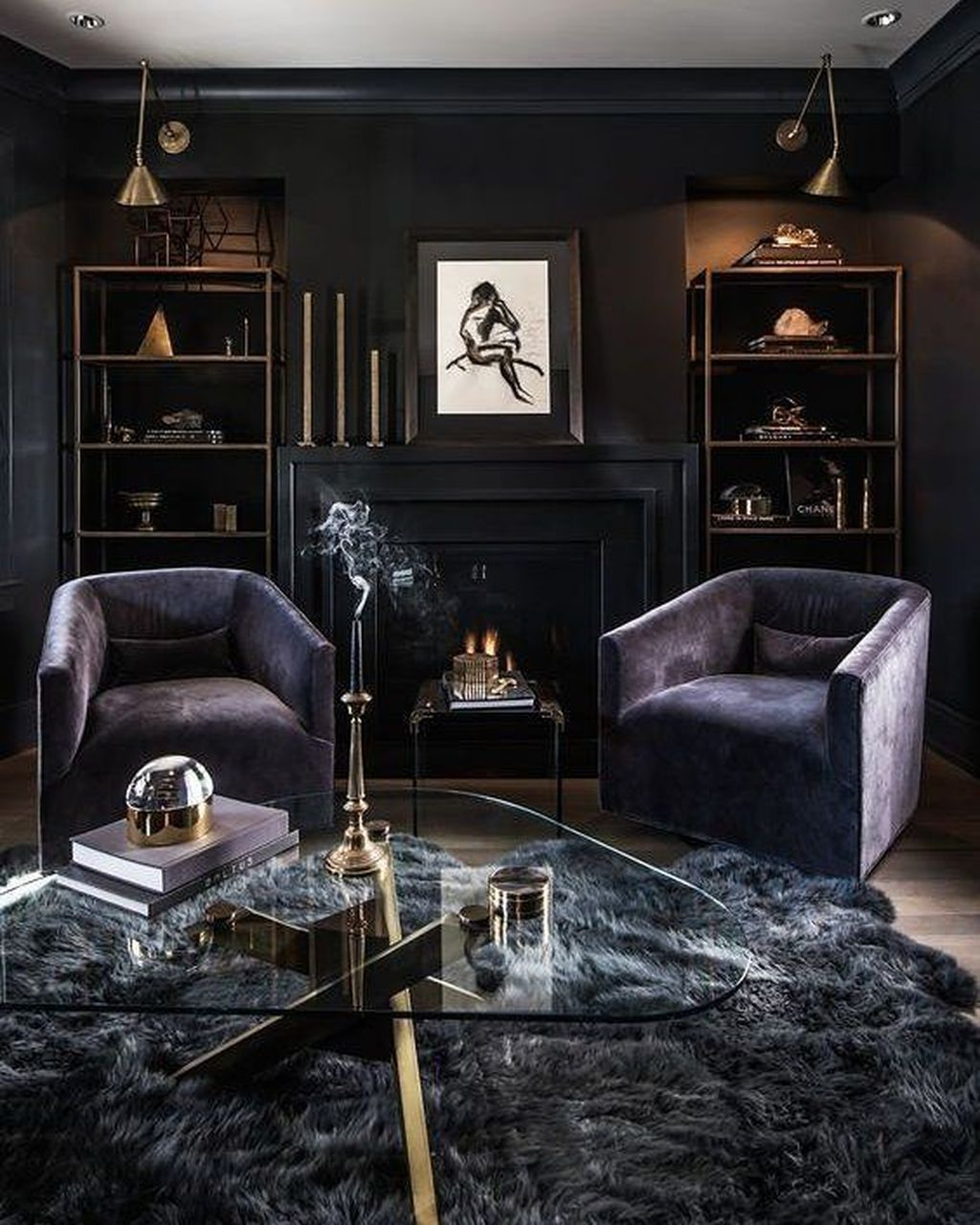 Woonkamer Set Modern 48 Comfy Masculine Living Room Design Ideas Paint It Black