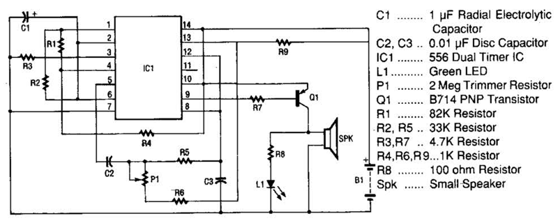 space age sound machine circuit