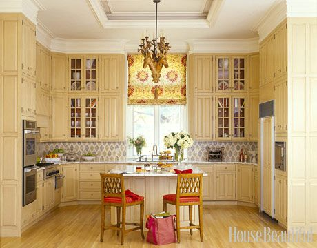 buttery color cabinets