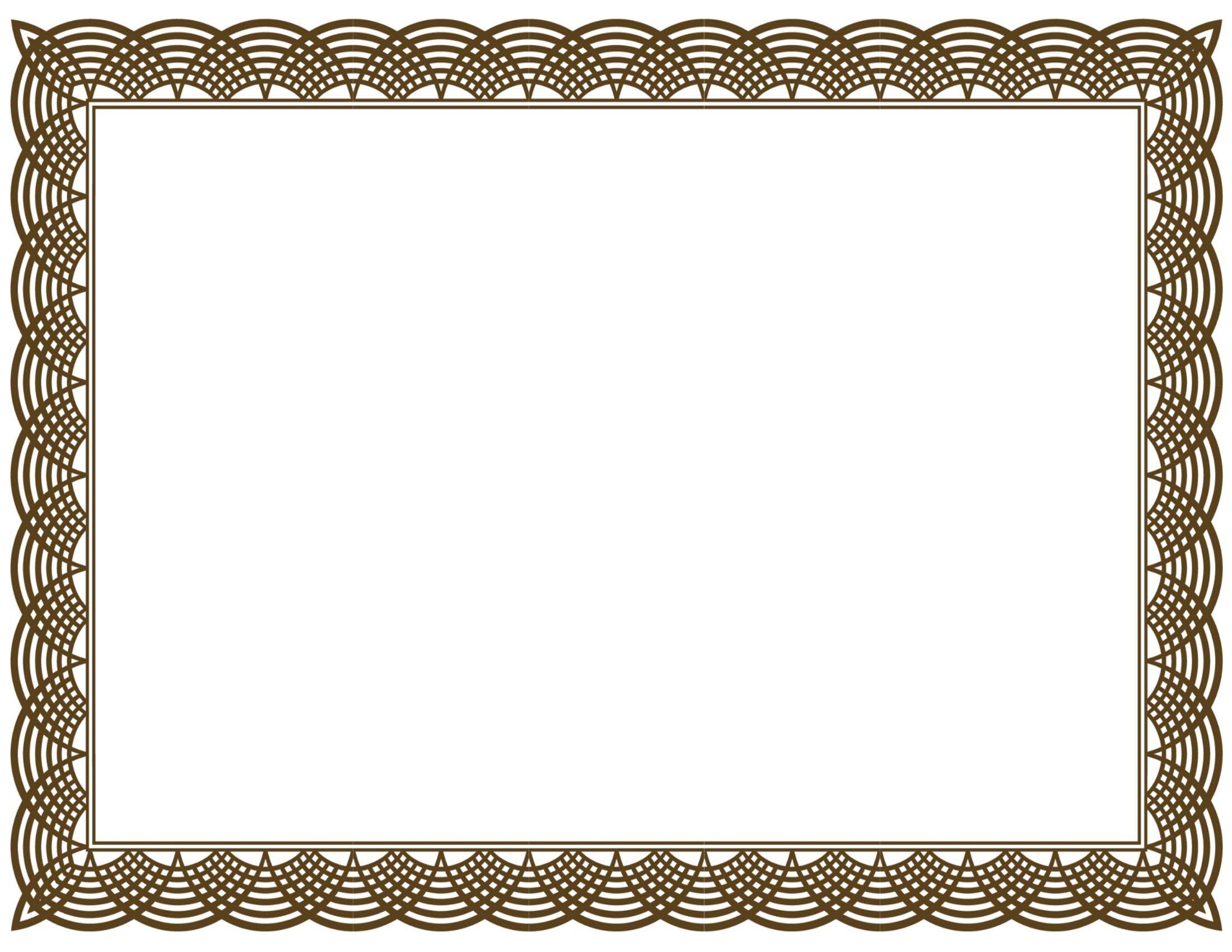 Free Certificate Border Templates For Word Besttemplates123 Seni Bingkai Pola