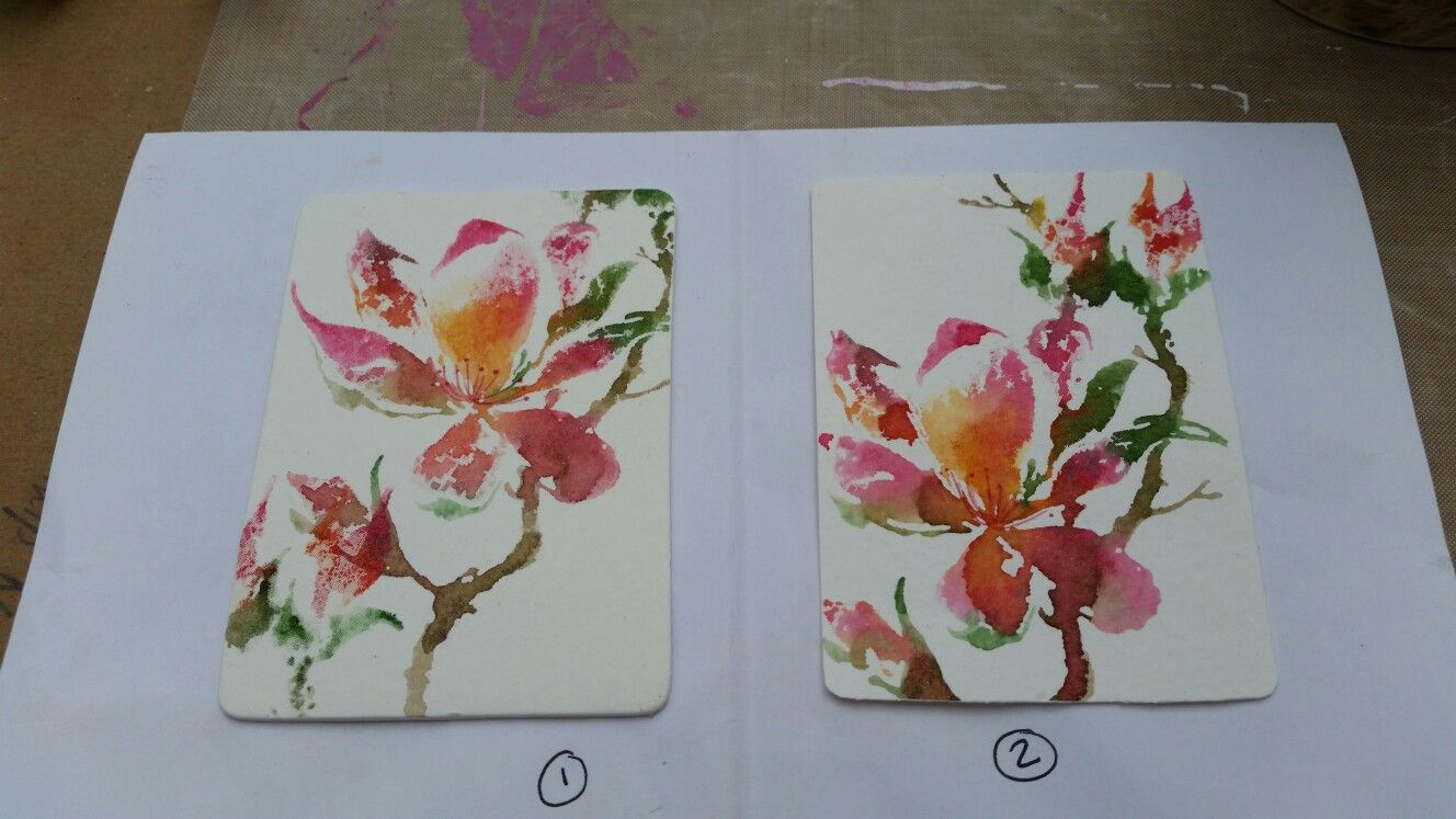 The unfolding by Penny black stamp and stampin up pens, on watercolour card. By Dawn Watson.