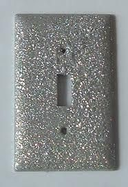 Glitter Light Switch. When we get a house, I will have to do this for the girls.
