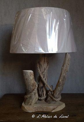 lampe en bois flott l atelier de lionel cr ation lampe en 2019 pinterest bois lampe. Black Bedroom Furniture Sets. Home Design Ideas