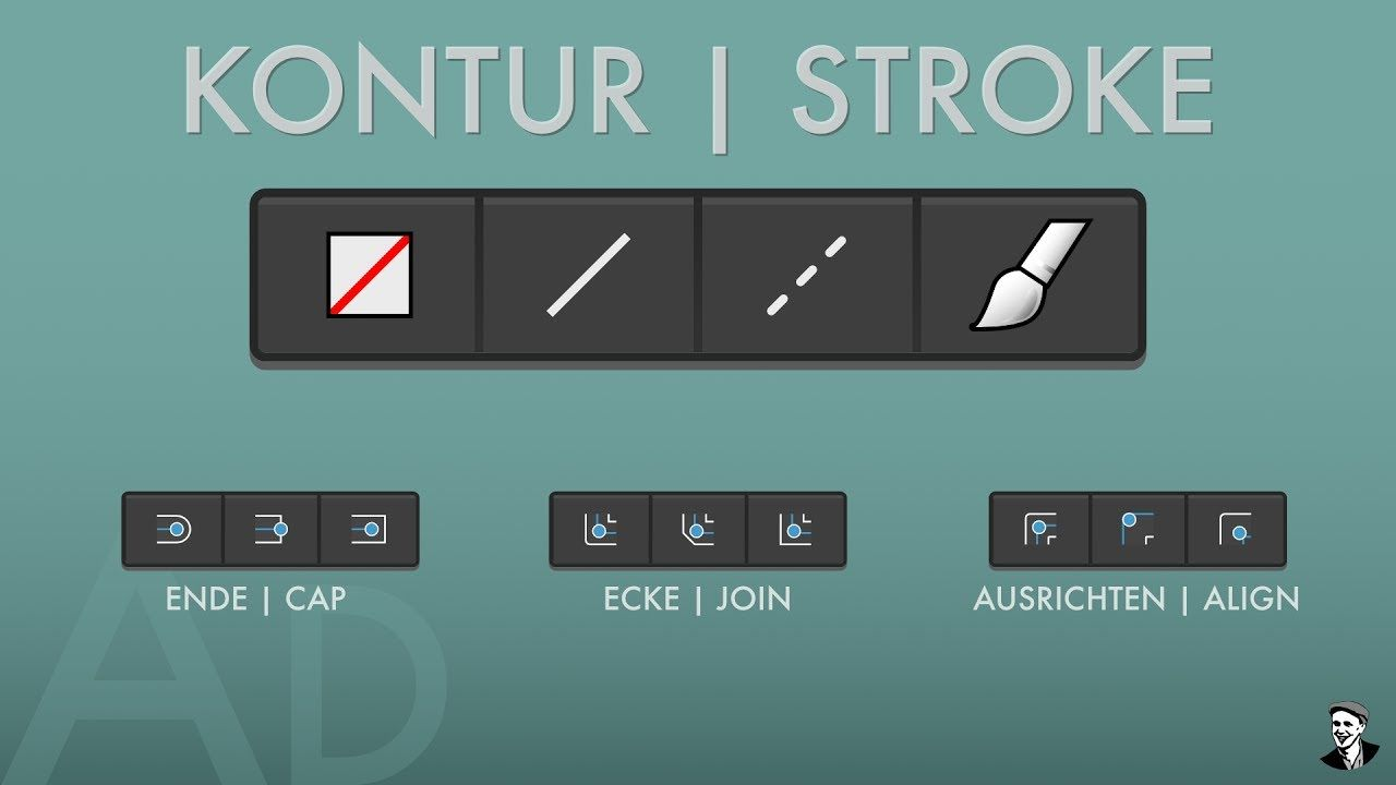 11 Quicktips - Affinity Designer - Kontur Panel | Stroke panel ...