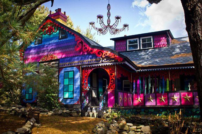 Was macht die Villa Kunterbunt in Woodstock?