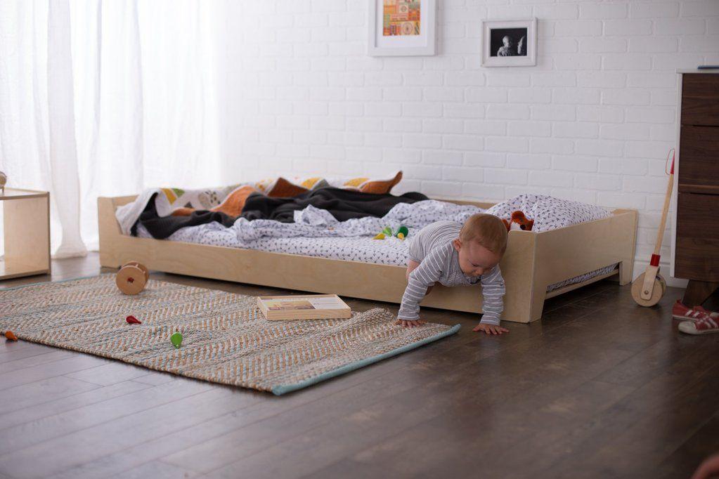 Montessori Floor Bed Diy Toddler Bed Toddler Rooms Toddler Bed Boy