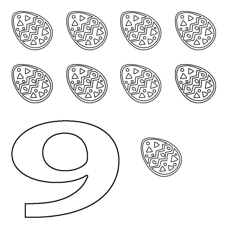 Pin On Preschool Numbers 9
