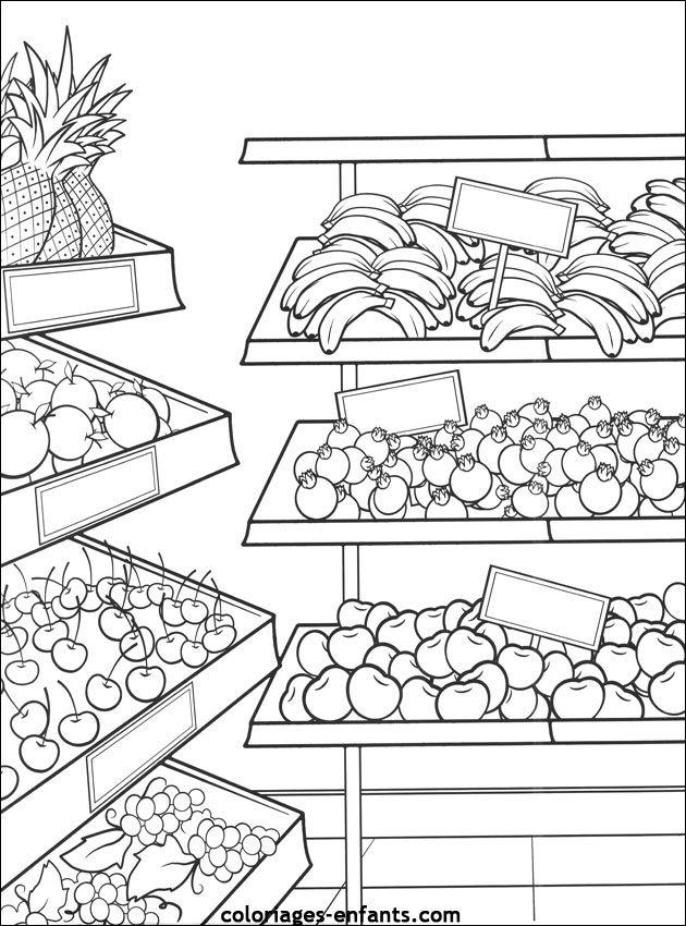 coloriages de fruits et l gumes food mandalas coloring pinterest arbeitsbl tter. Black Bedroom Furniture Sets. Home Design Ideas