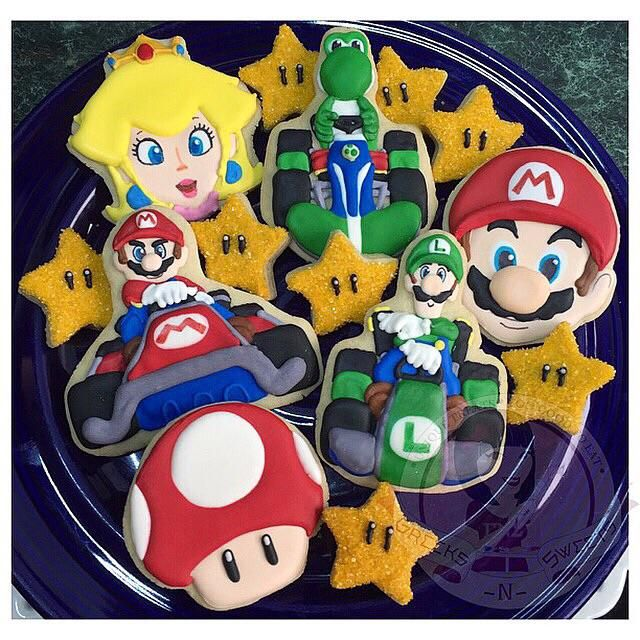 Mario Kart Cookies Mario Kart Cake Mario Bros Party Super