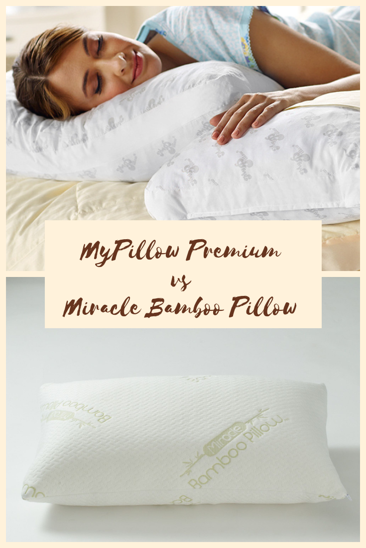 Mypillow Premium Vs Miracle Bamboo Pillow Which Pillow Should You Buy Pillows Mypillow Bamboo Pillow