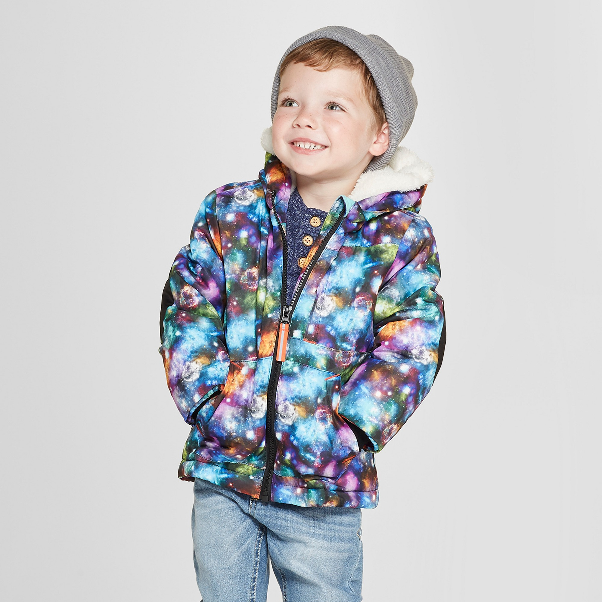 7a8a3a720 Toddler Boys  Galaxy Softshell Jacket - Cat   Jack Black 18M in 2018 ...