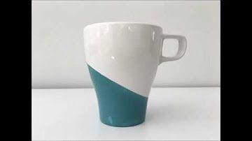Tasse designed mit mibenco Flüssiggummi PUR - Anti-Rutsch Effekt in individueller Farbe und Muster. Wiederablösbar!