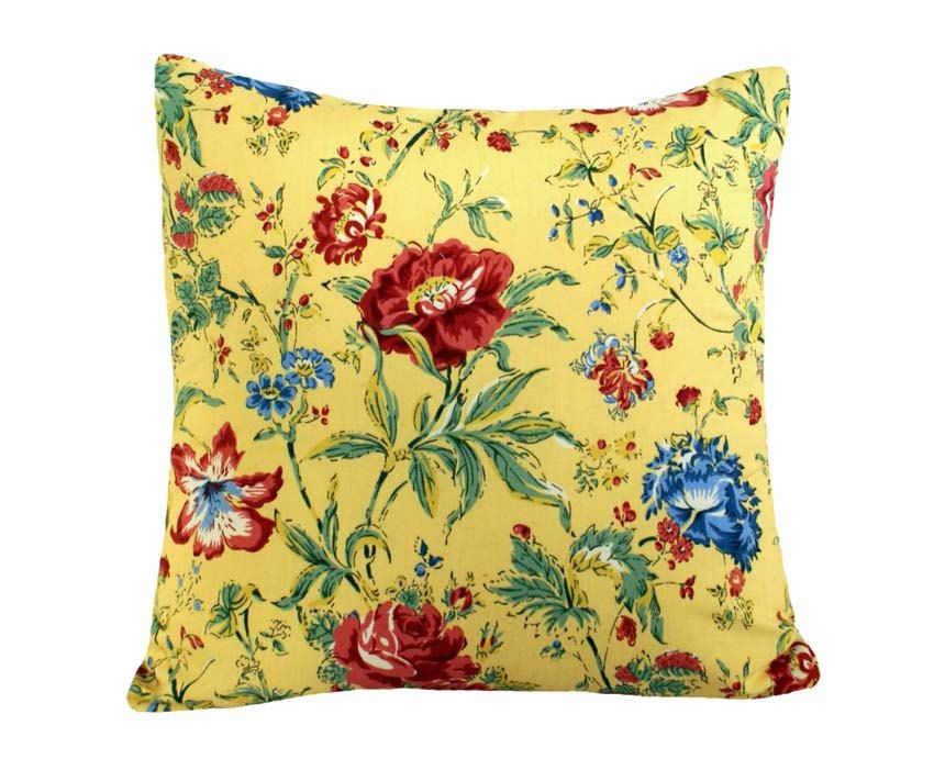 Yellow Pillows Decorative Throw Pillow Cover Colorful Flowers