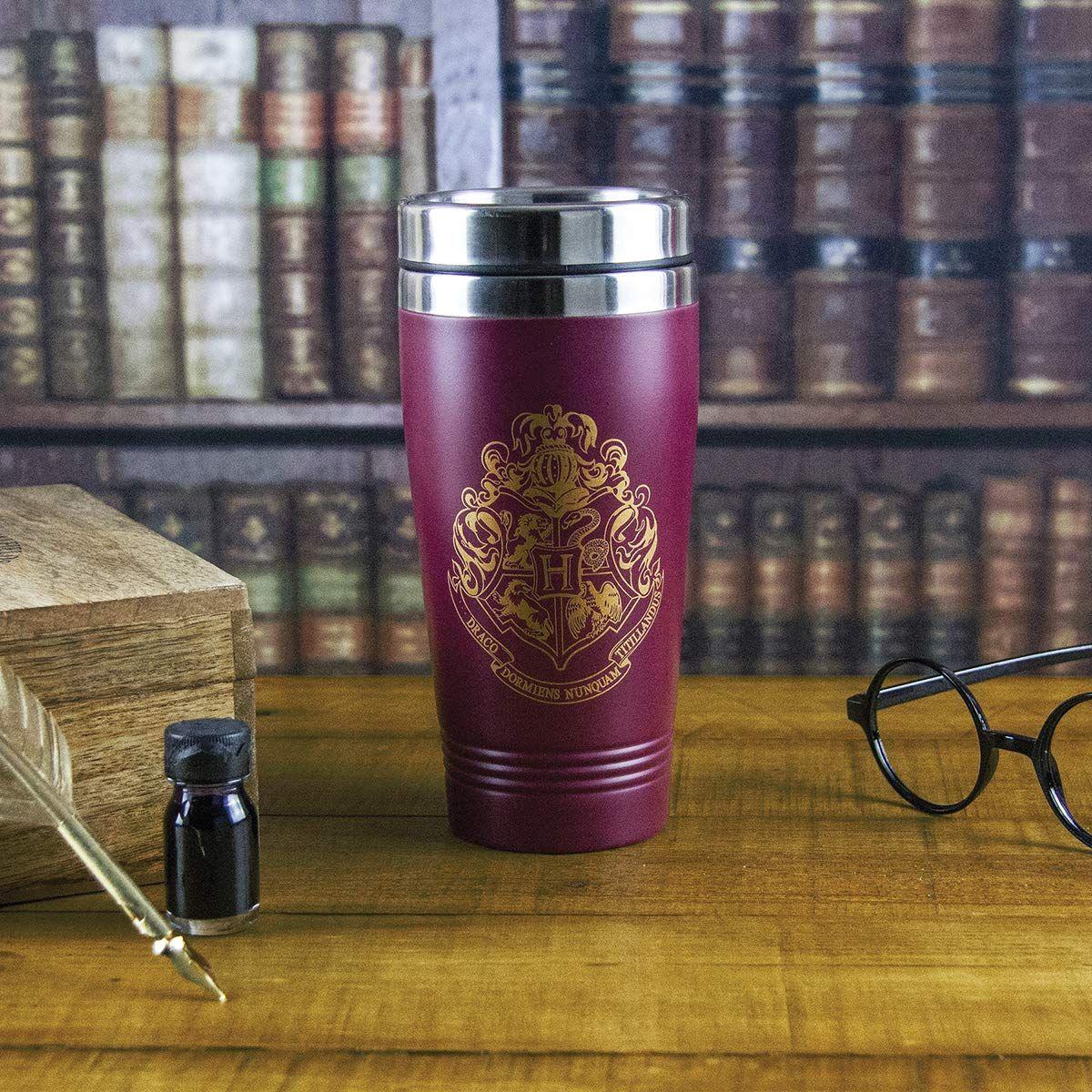 Harry potter hogwarts travel mug commuter coffee cup