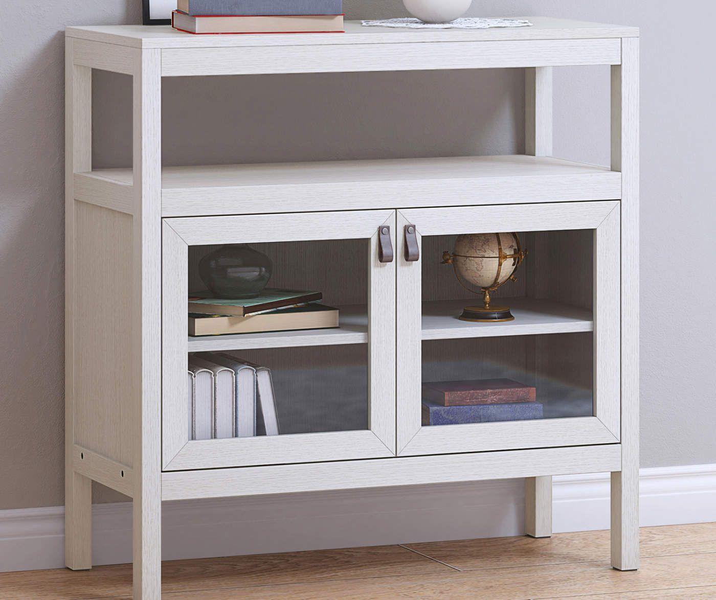 Stratford Whitewash 2 Door Storage Cabinet Big Lots In 2020 Storage Cabinet Door Storage Cabinet