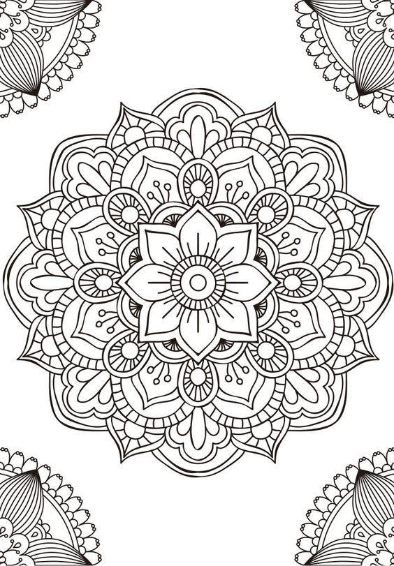 Las Mejores Imágenes De Mandalas En Blanco Y Negro Para Colorear
