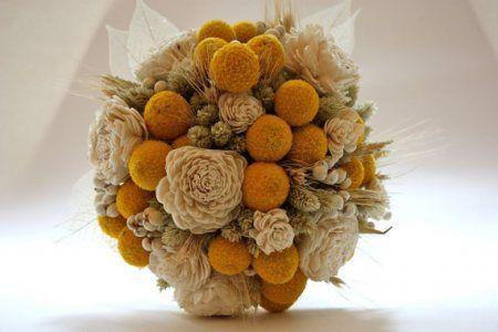 buquê de flores secas ( Inspirações Pinterest Flores secas y Flor - flores secas