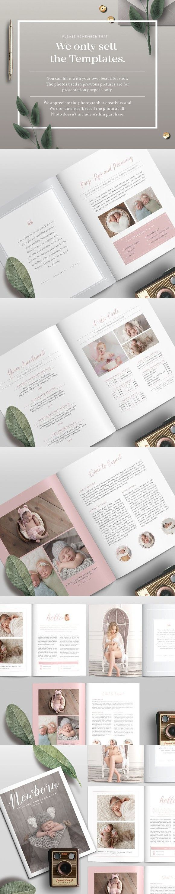 Newborn Magazine Template NM001   Magazine Templates   Pinterest ...