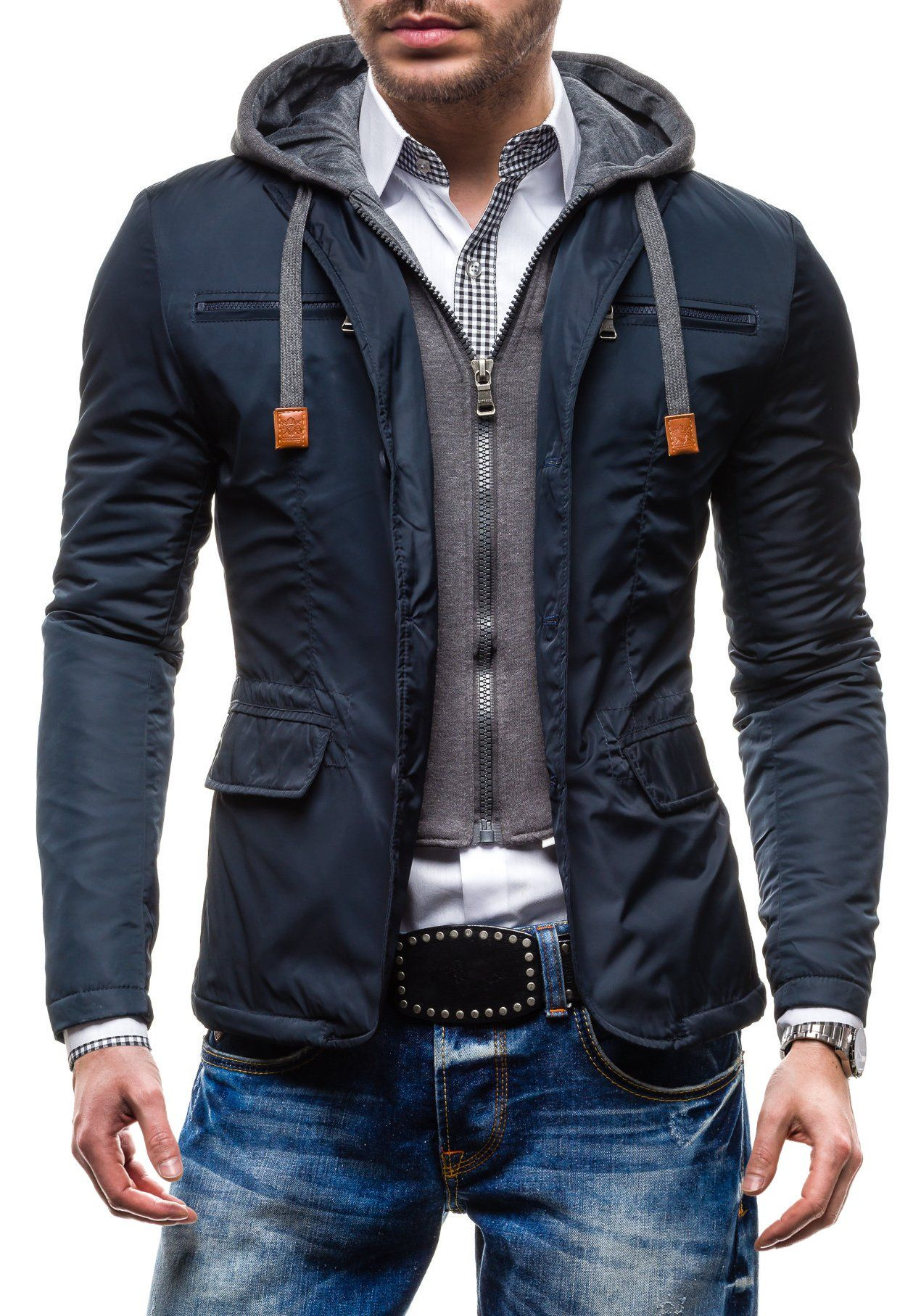 80ff8db82c3db0 EXTREME Men's Jacket Coat Sweatshirt Blazer Hoodie Slim Fit Leisure 07:  Amazon.co.uk: Clothing