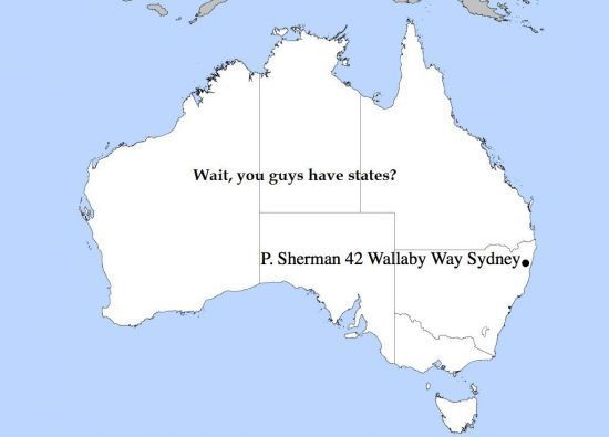 Australias states named by an american and sydney is also not in everything changed when the creative toddler realized that australia map looks like a dog head plus a cat eating cat gumiabroncs Image collections