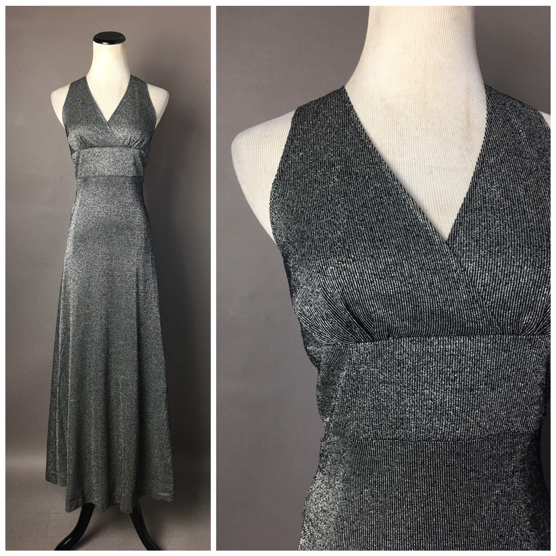 Vintage 70s Dress 1970s Dress Metallic Lurex Dress Prom Etsy Maxi Dress Cocktail Vintage Dress 70s Lurex Dress [ 3000 x 3000 Pixel ]