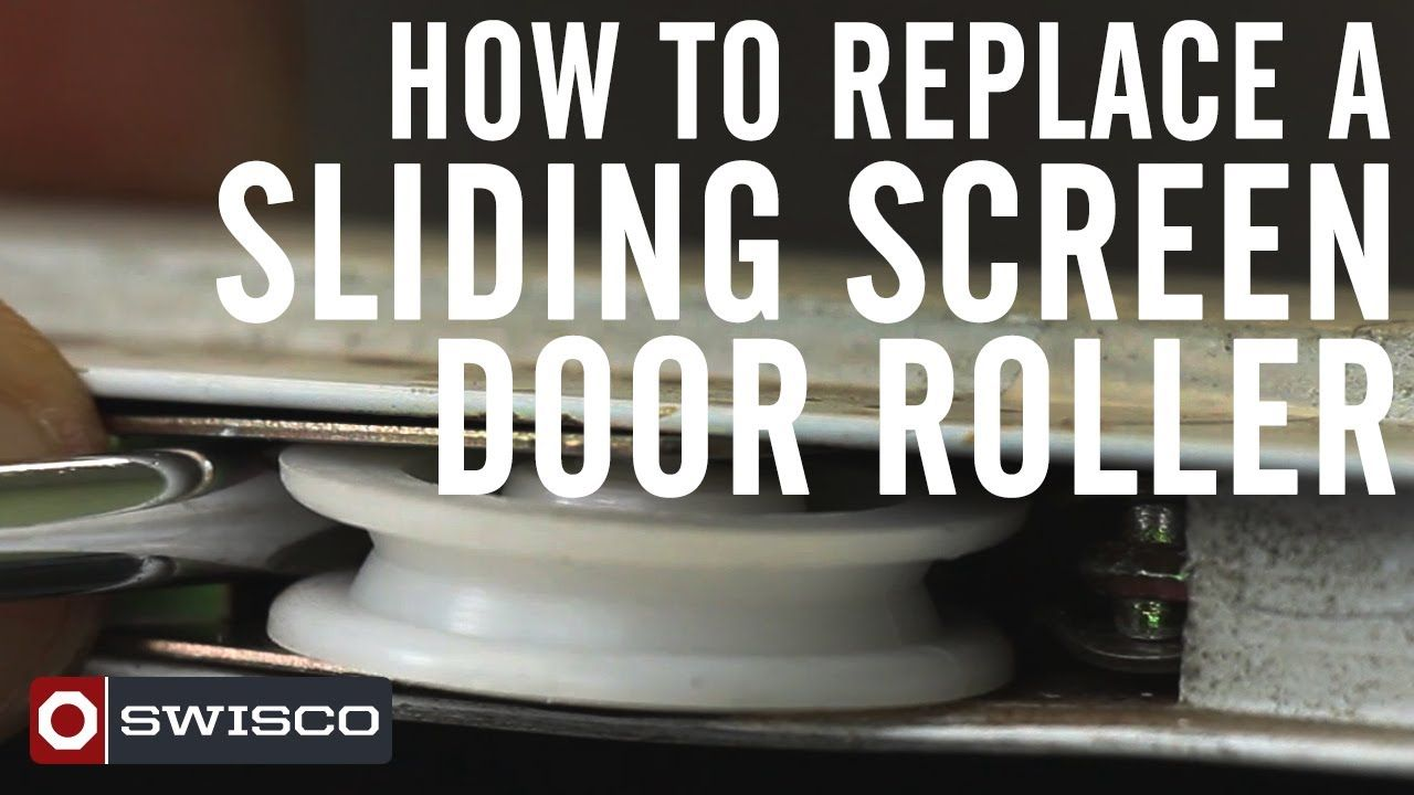 Mike Has A Quick Video For You Showing You How To Pop Out And Pop In A Patio Screen Door Roller Using The Swisco 84 016 Screen Door Rollers Sliding Screen Doors Doors