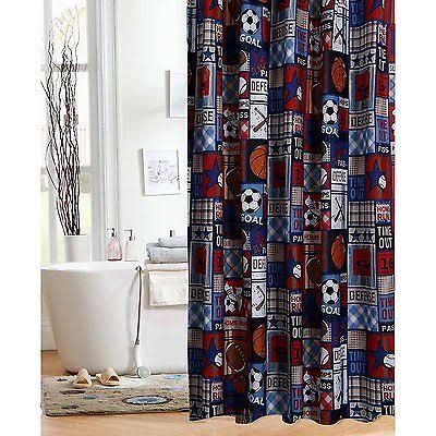 Sports Themed Shower Curtains