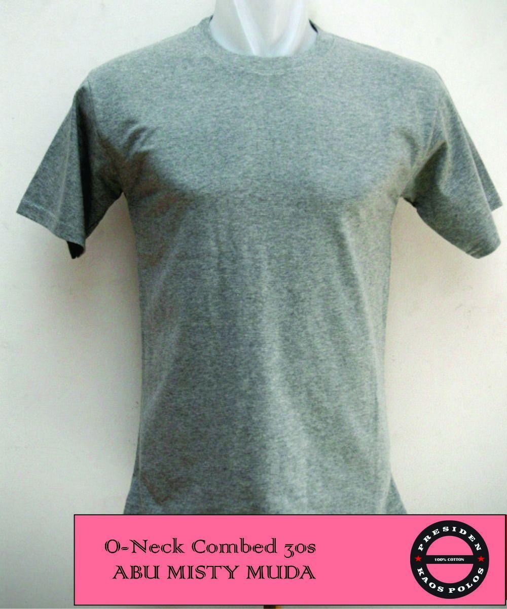 Jual Kaos Polos Distro Murah Wanita Tendencies Short Shirt Grey Stripe Pocket Abu Muda L