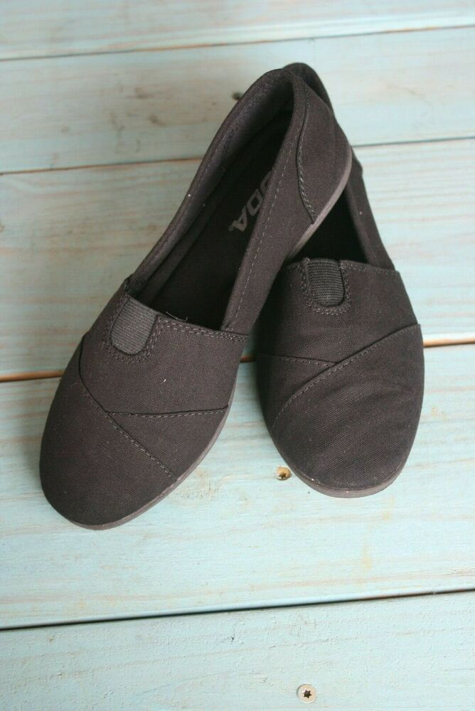Soda Flat Women Shoe Linen Canvas Slip