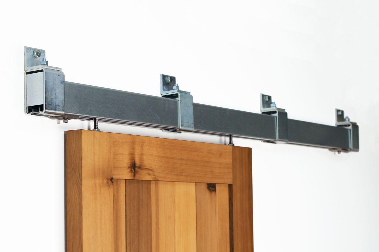 Heavy Duty Box Rail Barn Door Hardware Kit Interior Exterior 600 Lb Shed Door Hardware Sliding Barn Door