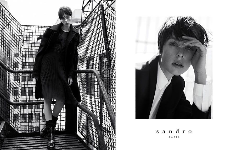 The Sandro Fall/Winter 2013-2014 campaign  Models: Edie Campbell, Janis Ancens and Tony Bryan  Photographer: Karim Sadli