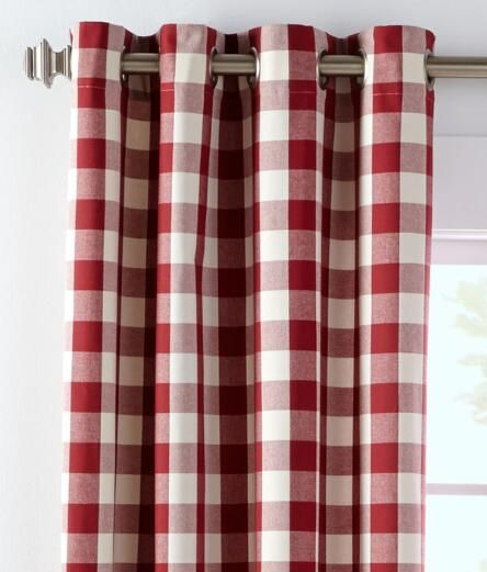 Buffalo Check Grommet Top Curtains Pair Buffalo Plaid Curtains