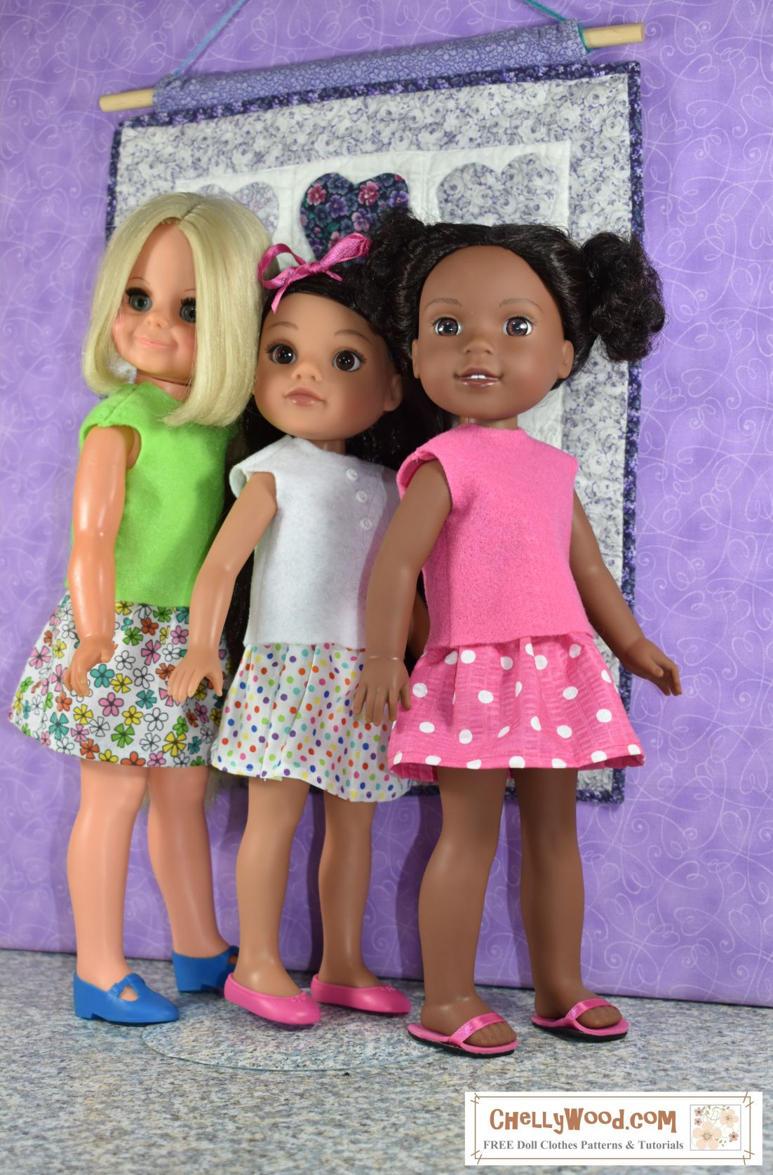 Free printable sewing patterns for 14inch, 15inch, and