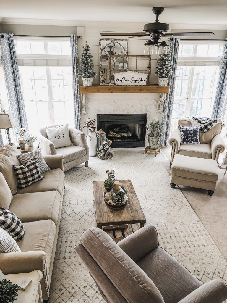 Cozy Winter Living Room Decor The Perfect Transition After Christmas Farmhouse Decor Living Room Winter Living Room Farm House Living Room