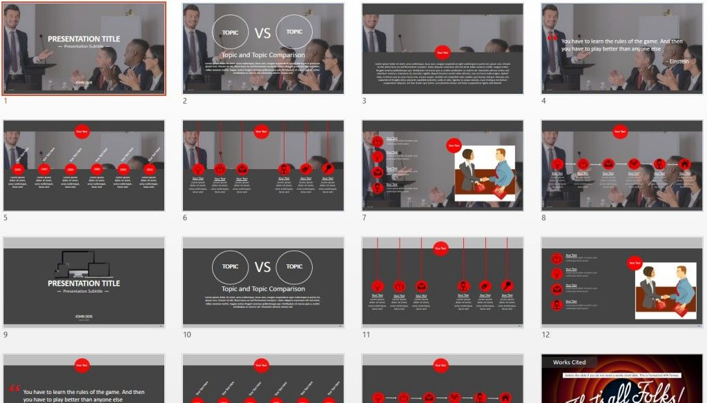 Effective Presentations Powerpoint Template Free Powerpoint
