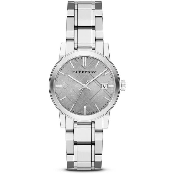 Burberry Stainless Steel Gray Dial Watch 34mm 495