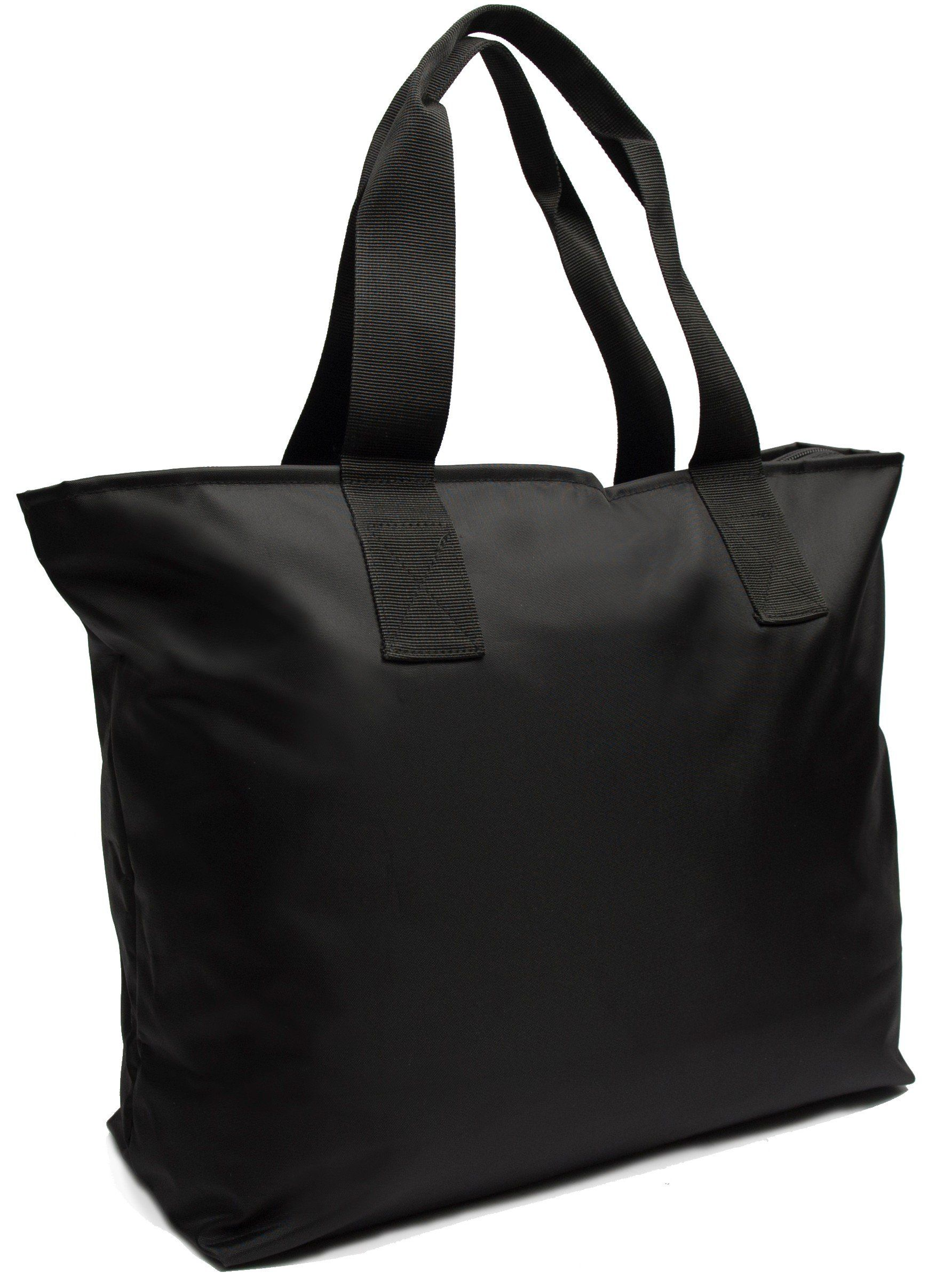 Large Nylon Tote Bag For Shopping, Beach, Sports, Gym - With ...
