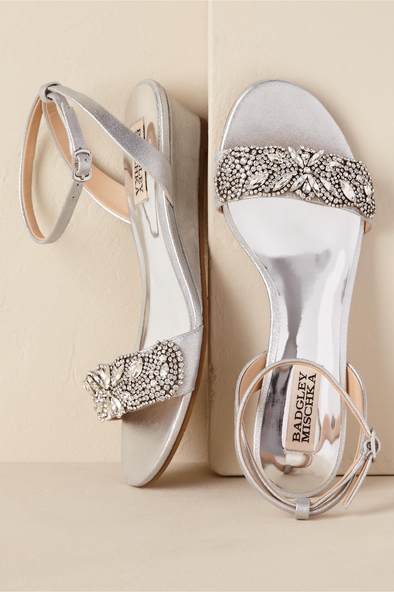 Bhldn Sparkle Demi Wedge Ivory In Shoes Accessories Bhldn Silver Bridal Shoes Wedding Shoes Heels Wedge Wedding Shoes