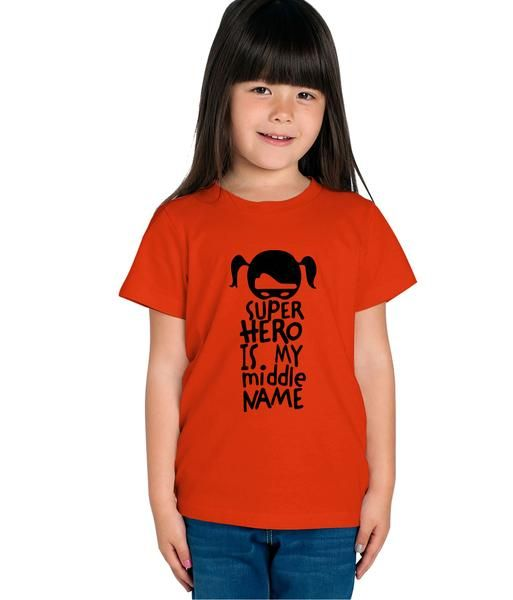 82247cc49d780 Haoser Girls Red Cotton Black Printed Half Sleeves Comfort T-shirt ...