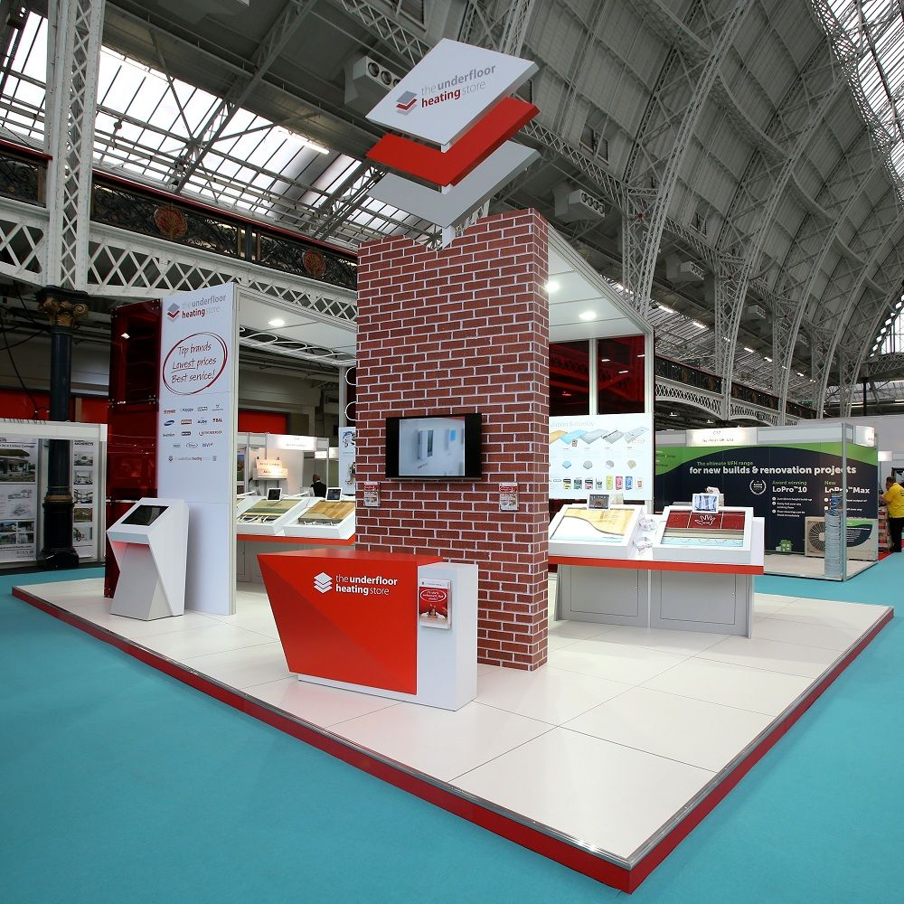 Modern Exhibition Stand Price : The underfloor heating store exhibition stand at the hbr show 2014