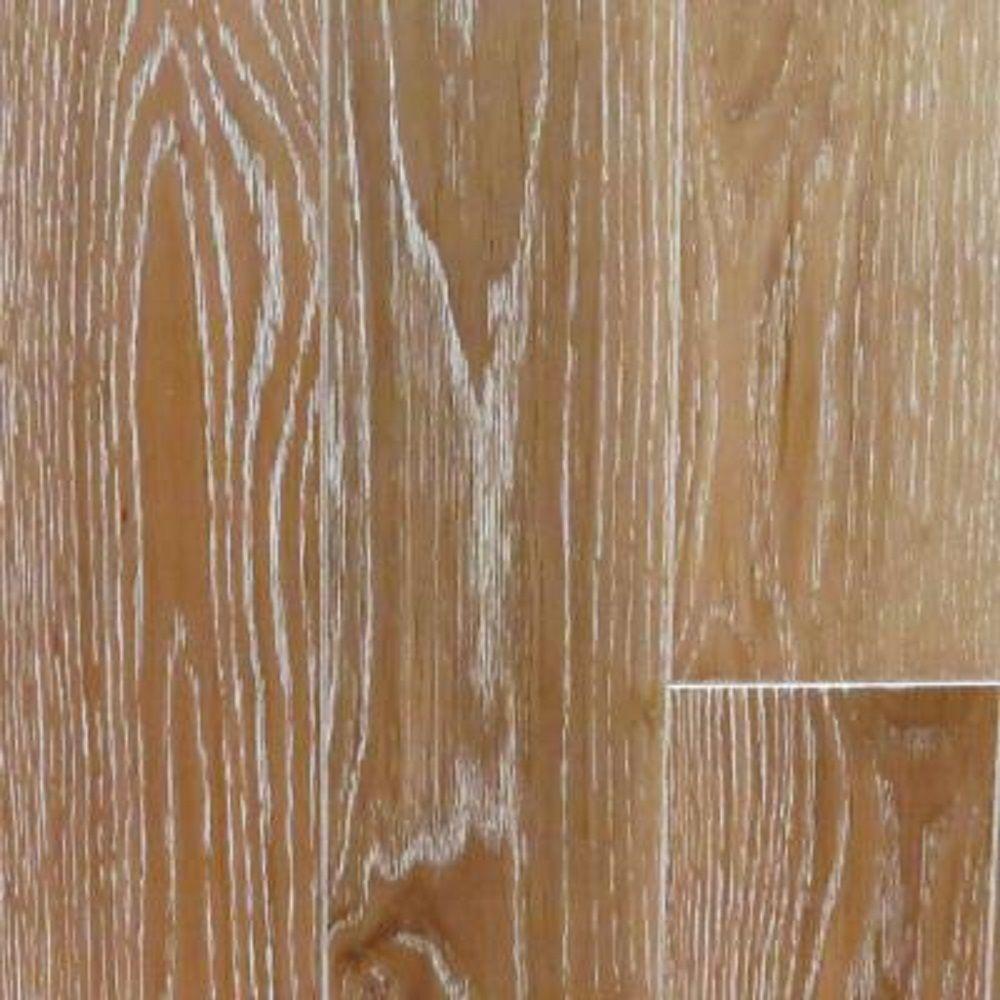 Take Home Sample Oak Charleston Sand Wire Brushed Hardwood Flooring 5 In X 7 Medium