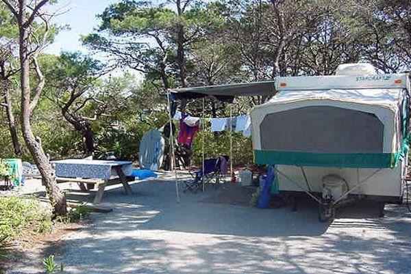 Campsite At Henderson Beach State Park Florida Camping Panhandle Florida Beach Camping