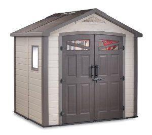 Amazon Com Keter 17190650 Bellevue 8x6 Storage Building Patio Lawn Garden Outdoor Storage Sheds Keter Storage Shed Shed Storage
